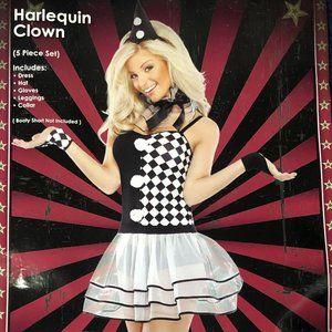 Harlequin Clown Halloween Costume 🤍🤡